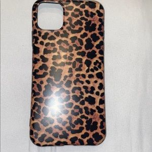 iPhone 11 leopard print case. NEVER USED!